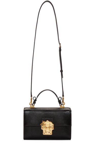 Dolce & Gabbana - Black Embossed Lucia Bag