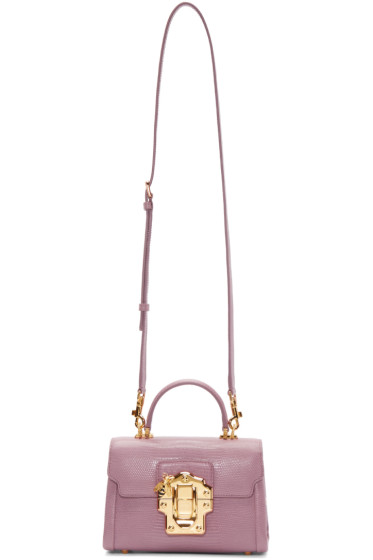 Dolce & Gabbana - Pink Embossed Lucia Bag