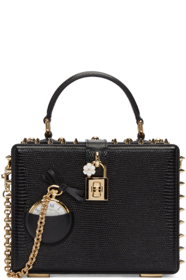 Dolce & Gabbana - Black Pocket Watch Box Bag