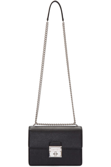 Dolce & Gabbana - Black Small Rosalia Shoulder Bag