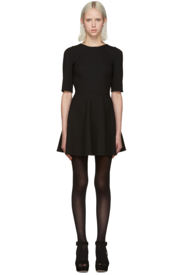 Dolce & Gabbana - Black Flared Short Dress