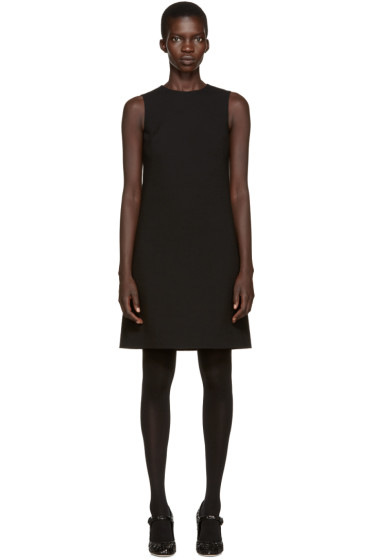 Dolce & Gabbana - Black Wool Crepe Dress