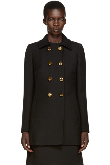 Dolce & Gabbana - Black Double-Breasted Coat