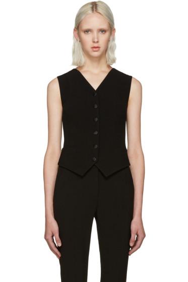 Dolce & Gabbana - Black Wool Crepe Vest