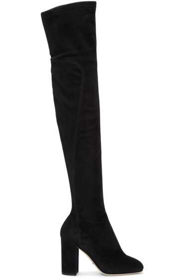 Dolce & Gabbana - Black Suede Tall Boots