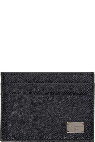 Dolce & Gabbana - Navy Leather Card Holder