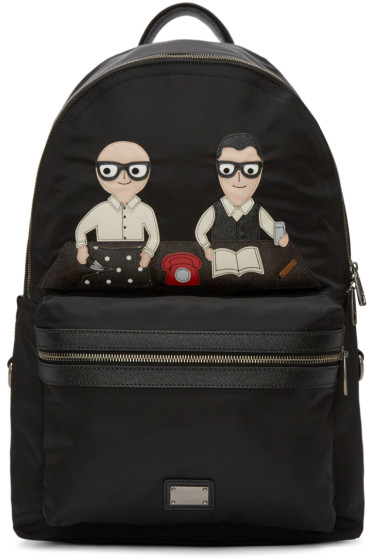 Dolce & Gabbana - Black Nylon Designers Backpack