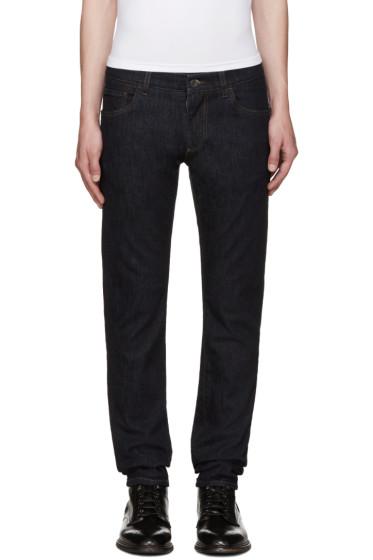 Dolce & Gabbana - Indigo Embroidered Jeans