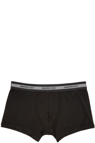 Dolce & Gabbana - Black Cotton Briefs