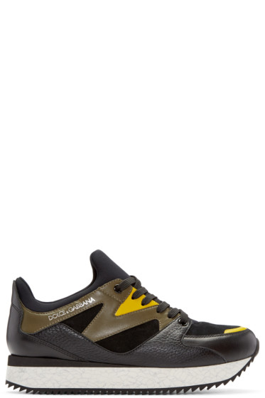 Dolce & Gabbana - Multicolor Panelled Sneakers