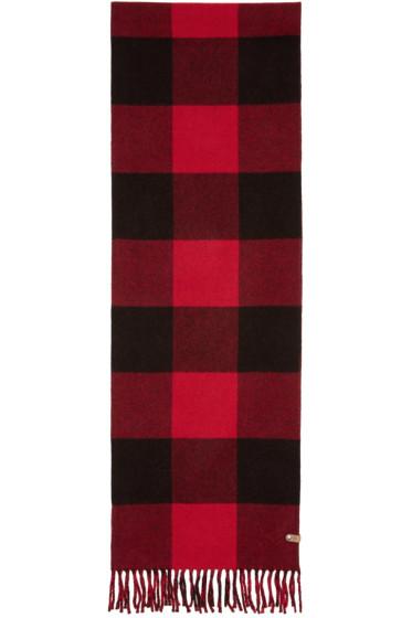 Mackage - Red & Black Langevin Scarf