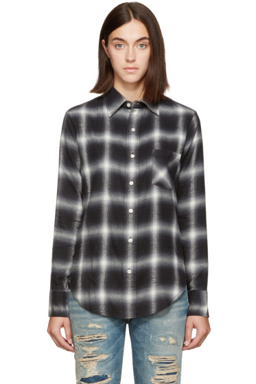 R13 - Black Slim Boy Shirt