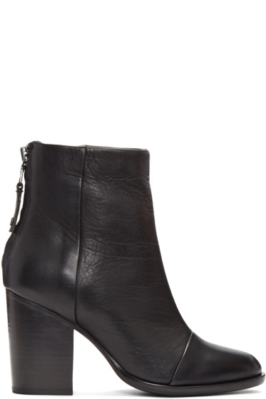 Rag & Bone - Black Leather Ashby Boots