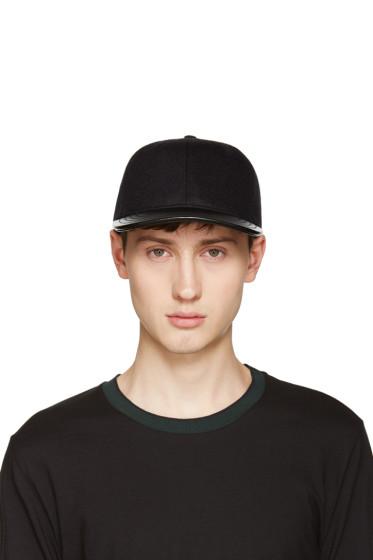 Rag & Bone - Black Wool & Leather Cap