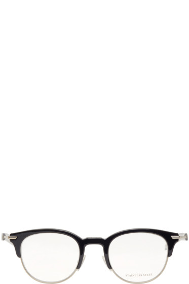 Dior Homme - Black & Silver Round Optical Glasses