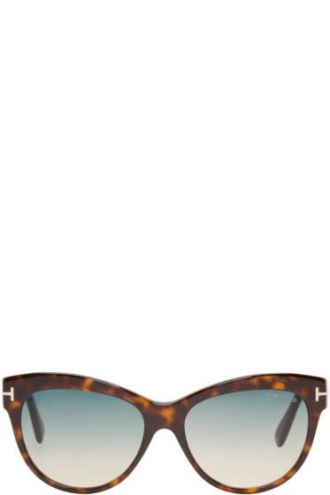 Tom Ford - Tortoiseshell Lily Sunglasses
