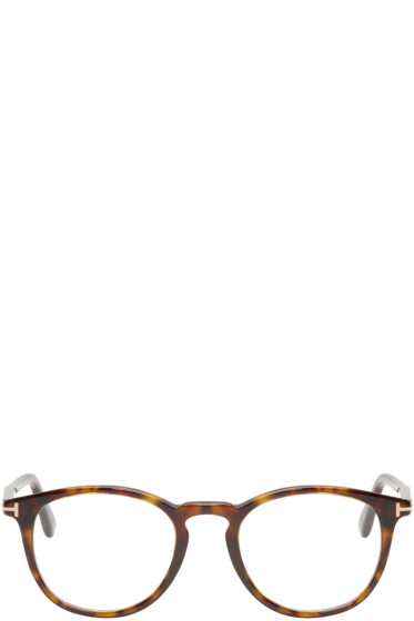 Tom Ford - Tortoiseshell Round FT5401 Glasses