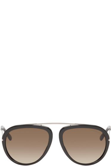 Tom Ford - Black Stacy Aviator Sunglasses