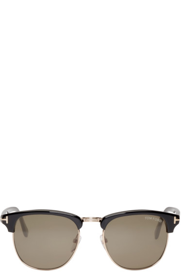 Tom Ford - Black & Gold Henry Sunglasses