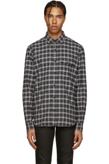 Belstaff - Black & Grey Samuel Check Flannel Shirt