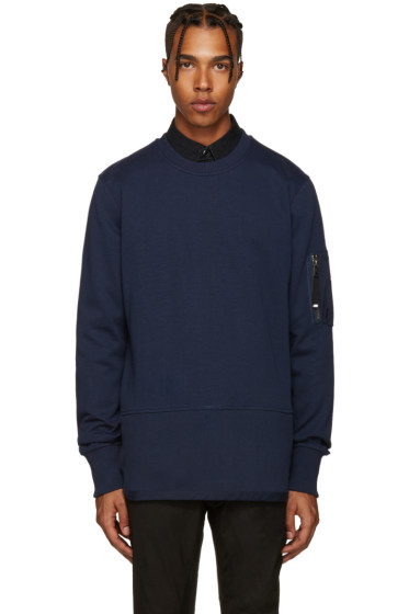 Diesel Black Gold - Blue Ribbed Pullover