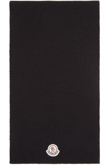 Moncler - Black Wool Scarf