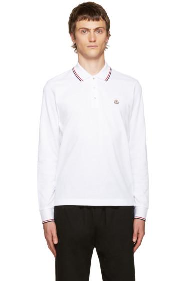 Moncler - White Piqué Polo