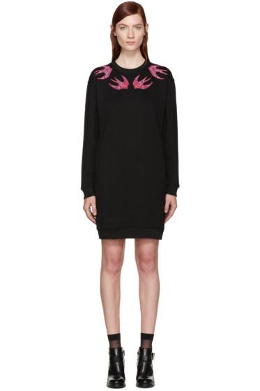 McQ Alexander Mcqueen - Black Swallows Dress