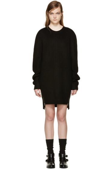 McQ Alexander Mcqueen - Black Wool Pullover Dress
