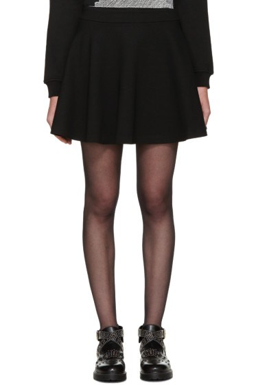 McQ Alexander Mcqueen - Black Skater Miniskirt