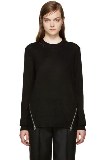 McQ Alexander Mcqueen - Black Lace Back Pullover