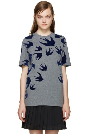McQ Alexander Mcqueen - Grey Swallows T-Shirt