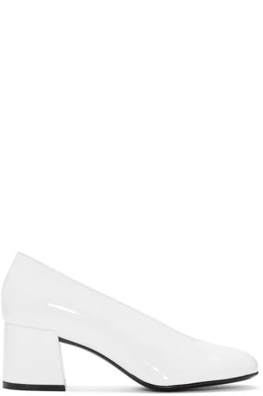 McQ Alexander Mcqueen - White Patent Pembury Heels