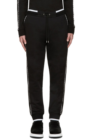 McQ Alexander Mcqueen - Black Stripe Lounge Pants