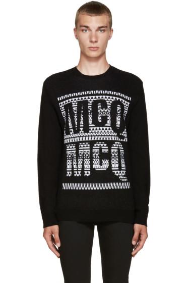 McQ Alexander Mcqueen - Black Jacquard Logo Sweater