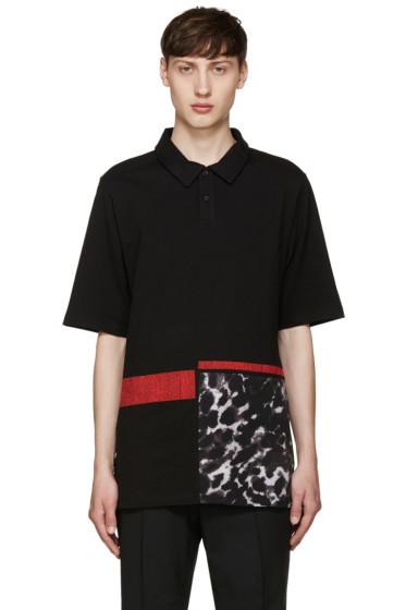 McQ Alexander Mcqueen - Black Printed Polo