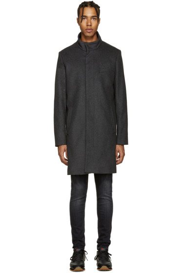 Tiger of Sweden - Grey Wool Egal Coat
