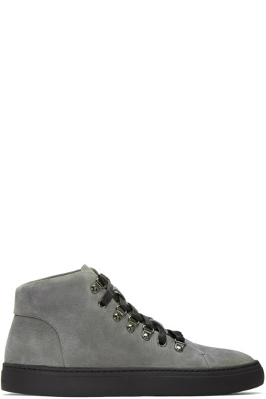 Tiger of Sweden - Grey Yngve High-Top Sneakers