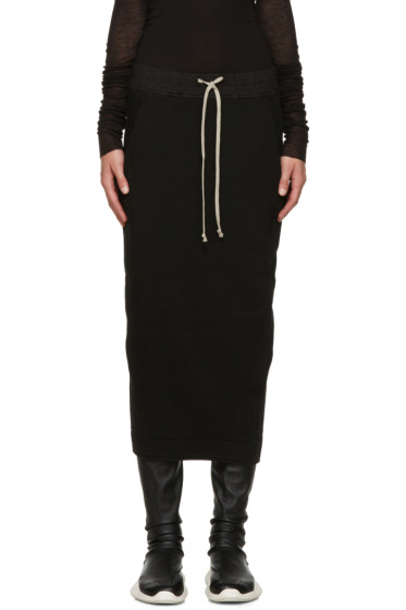 Rick Owens Drkshdw - Black Cotton Jersey Skirt
