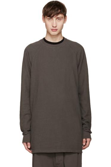 Rick Owens Drkshdw - Grey Baseball Pullover