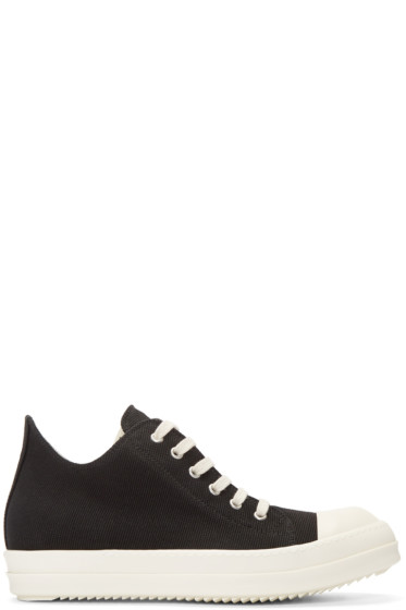 Rick Owens Drkshdw - Black Canvas Sneakers