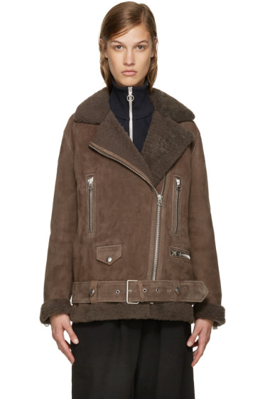 Acne Studios - Brown Shearling More Jacket