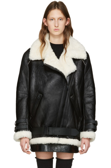 Acne Studios - Black Shearling Velocite Jacket