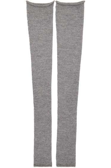 Acne Studios - Grey Long Jill Leg Warmers