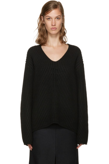 Acne Studios - Black V-Neck Deborah Sweater