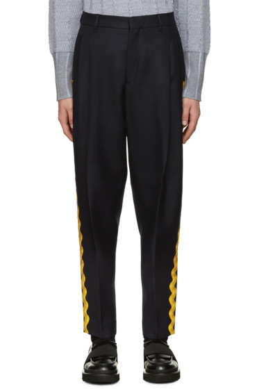 Acne Studios - Navy Piano Ribbon Trousers