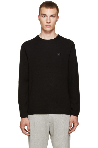 Acne Studios - Black Dasher O Face Sweater