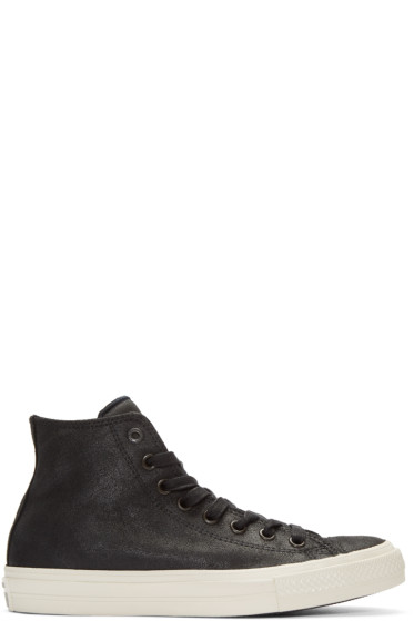 Converse by John Varvatos - Black Leather CTAS II High-Top Sneakers