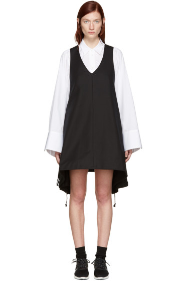 Y-3 - Black Canvas Dress