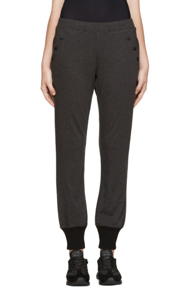 Y-3 - Grey Button-Trimmed Lounge Pants